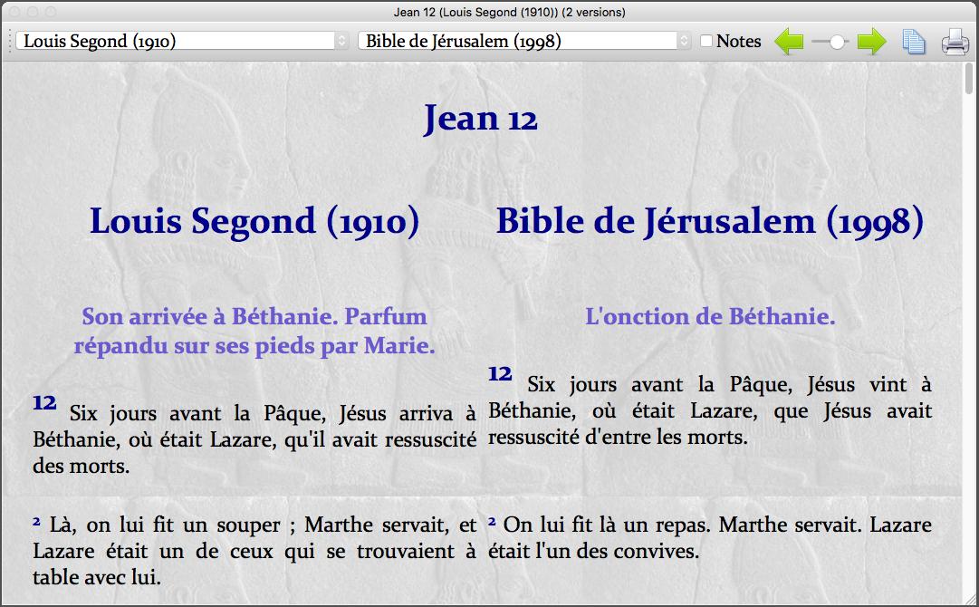 plusieurs versions de la bible